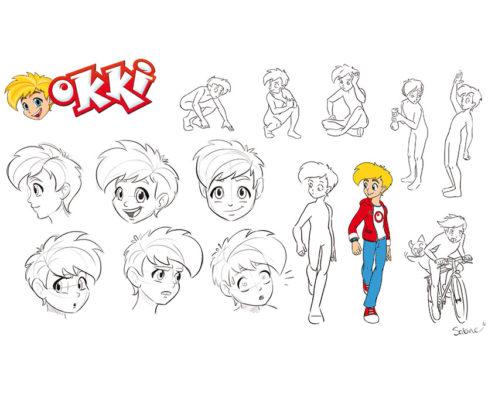 Studio Sabine - Illustraties & Ontwerp | Karakter ontwerpen (character design) - Okki