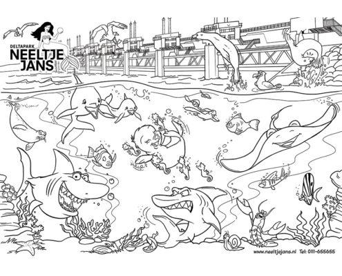 Studio Sabine - Illustraties & Ontwerp | Illustraties - Neeltje Jans kleurplaat