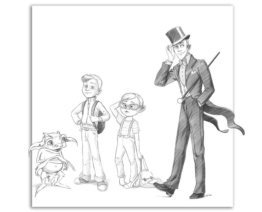 Studio Sabine - Illustraties | Karakter ontwerpen voor animatiefilm