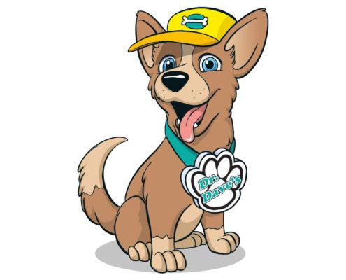 Studio Sabine - Illustraties | karakter ontwerp hondje voor dierenkliniek