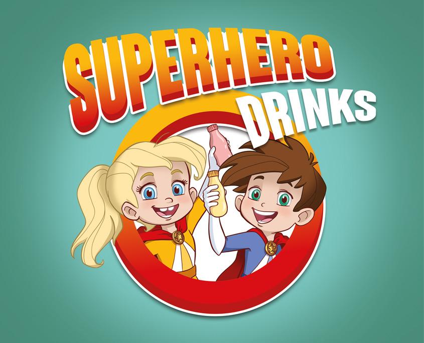Studio Sabine - Illustraties   Karakter ontwerp superhelden yoghurtdrink