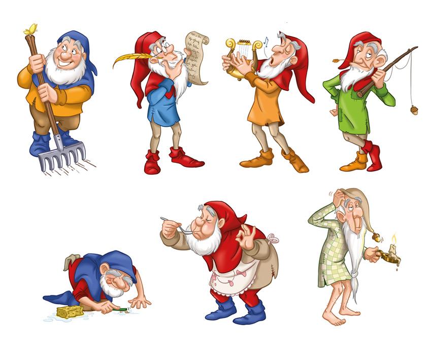 Studio Sabine - Illustraties & Ontwerp   Efteling Sprookjesboom Kabouters Karakter Ontwerpen