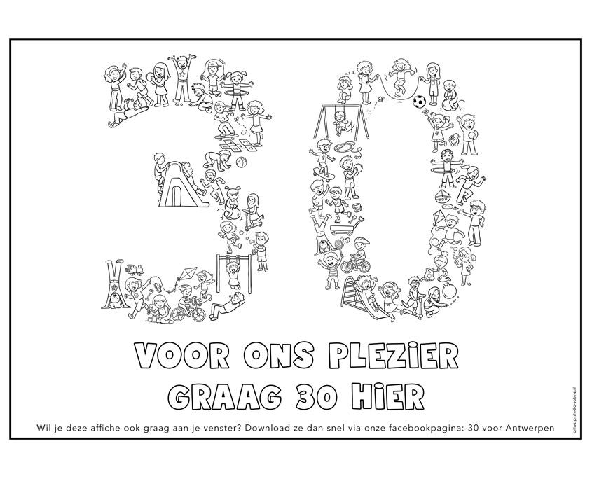Studio Sabine - Illustraties & Ontwerp | kleurplaat - kilometer zone kinderen