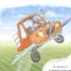 Studio Sabine - Illustraties & Ontwerp | Illustratie de vliegende auto