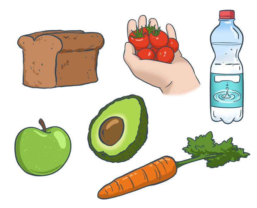 Studio Sabine - Illustraties | Afbeeldingen illustraties van voedsel